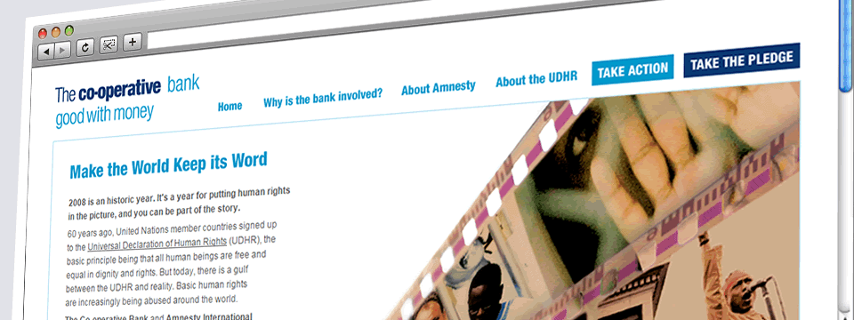 The Co-operative Bank | Web Design Sheffield